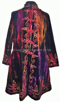 Ethnic embroidered ,long mirrored  jacket 3/4 length