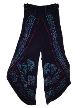 Faux Thai pants with mirror and print designs