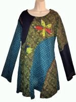 Gringo tunic applique dress , soft fleecy lined m/l [see description]