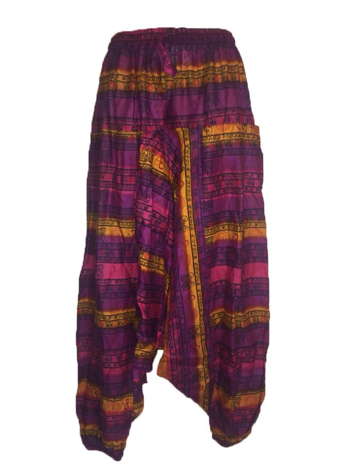 Funky harem patchwork  trousers