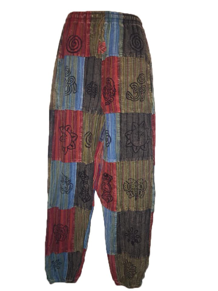 Ethnic patchwork  harem trousers