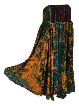 Stunning tie dye silk palazzo trousers