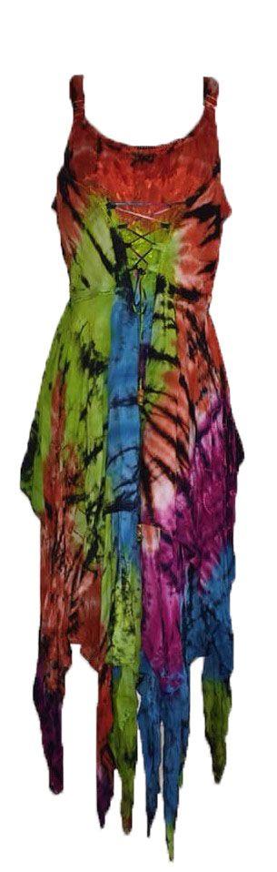 Gorgeous tie dye corset fae dress
