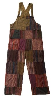 Gorgeous heavy patchwork hippy dungarees