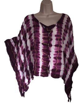 Tie dye boho batwing top