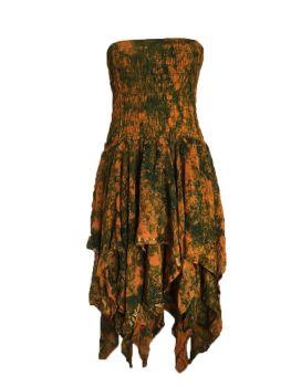 Beautiful silk  strapless Tianna faerie dress plus size