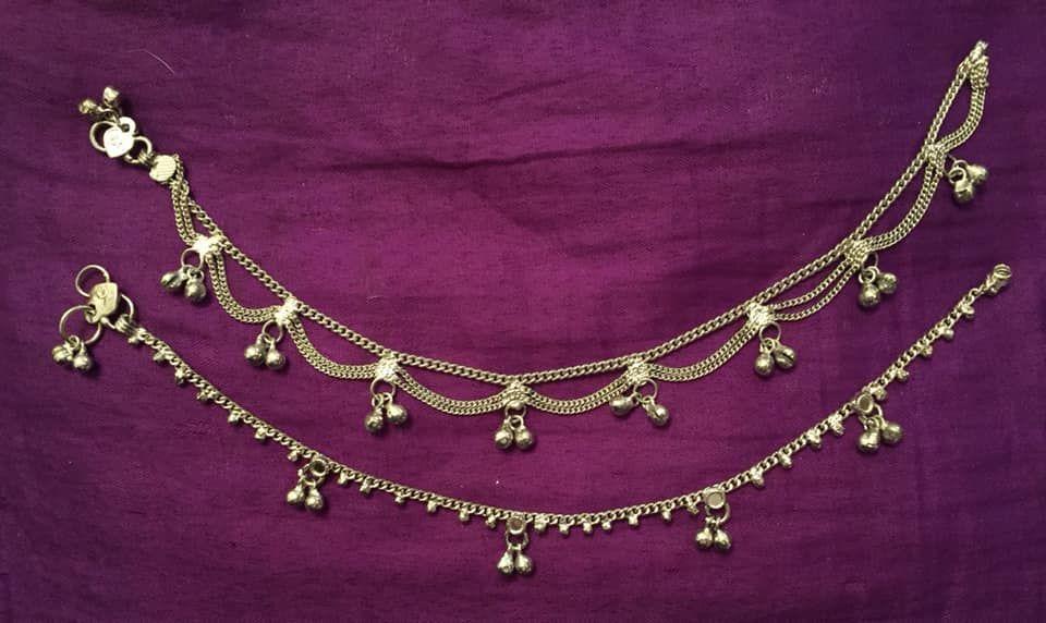 Indian hippy ankles bracelet set of 2
