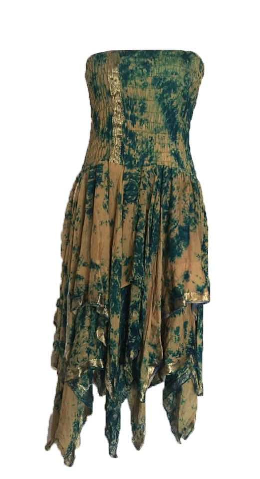 Beautiful silk  strapless Tianna faerie dress plus size approx 20-30