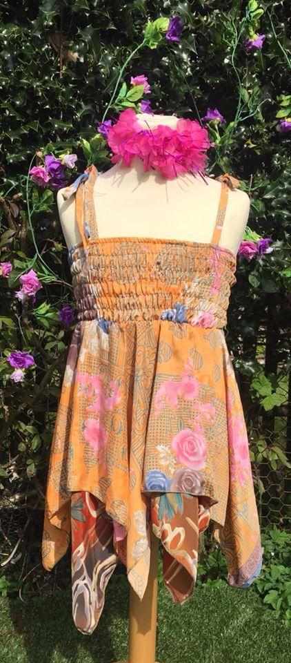 Faery sparkly pixie hem dress  [3-5 years]