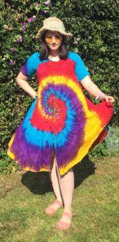 Stunning  tie dye button front Jessi  dress / top