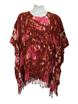 Gorgeous tie dye kaftan top with tassles [plus size]