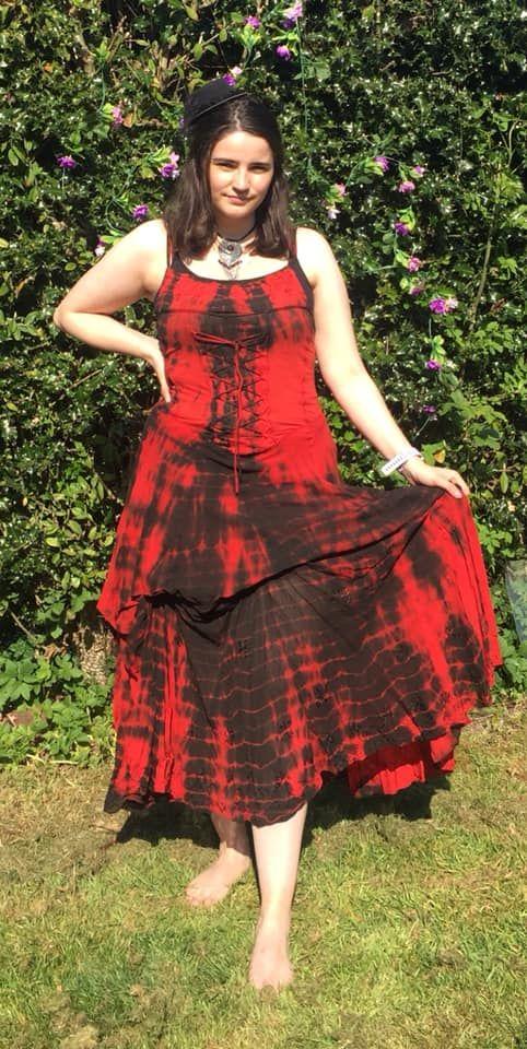 Gorgeous gothic tie dye dress 10-16