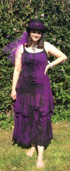 Gorgeous gothic tie dye dress