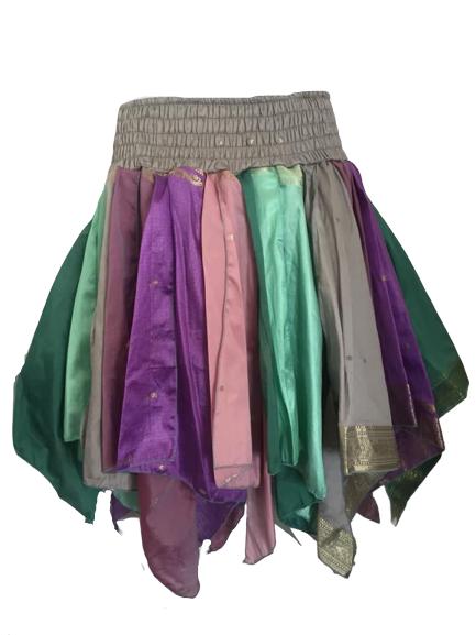 Silk faerie pixie hem skirt