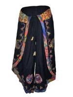 Faux Thai embroidered  batik pants
