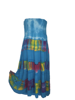 Kelli tye dye strapless dress