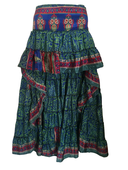 Gorgeous high/low wench pirate style skirt