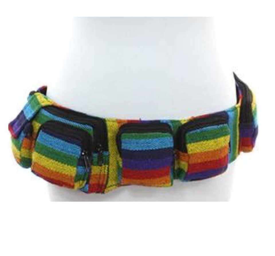 Five pocket hippy money belt