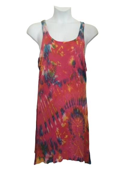 Drippy tie dye long top / dress xxl