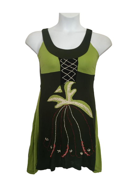 Quirky drip sleeveless dress / topLovely quirky