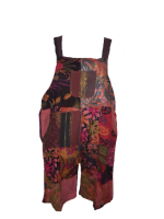 Pretty boho  festival hippy patchwork  dungaree shorts