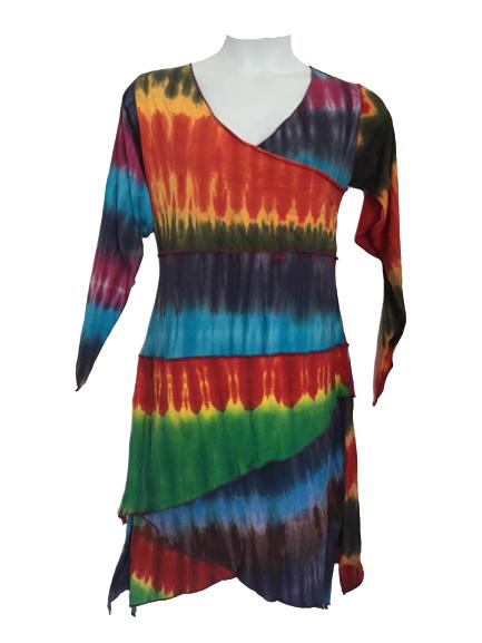 Gorgeous tie dye layer dress