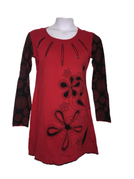 Tessa , zip and embroidered  dress