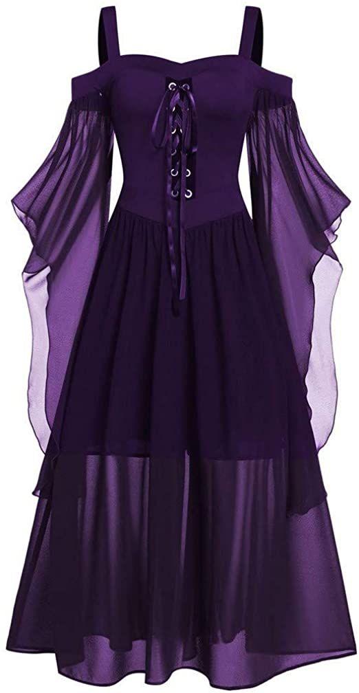 Gothic whimsical maxi corset dress 26-28
