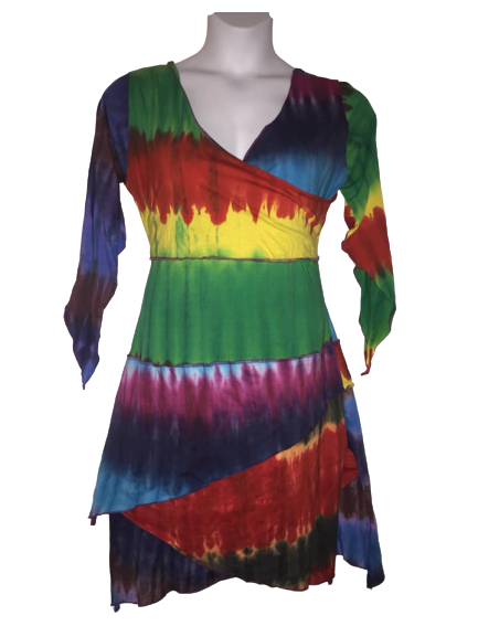 Gorgeous tie dye layer dress