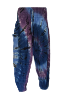 Hippy festival Raynie  tie dye harem trousers