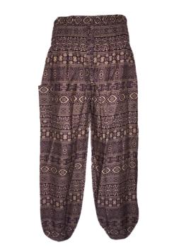 Hippy festival purple ethnic print  harem trousers