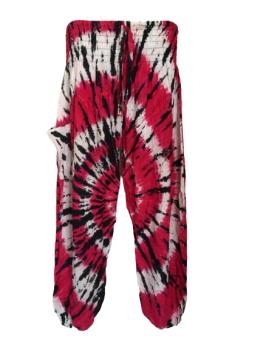 Hippy festival  tie dye harem trousers [waist 22-40 inches]