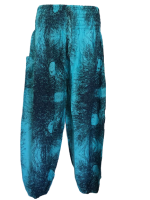 Crazy Turquoise  blue ,  harem trousers 10-18