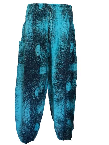Crazy blue ,  harem trousers 10-20