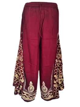 Flare panels  embroidered trousers