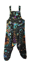Hippy tie dye harem TIGGY dungarees