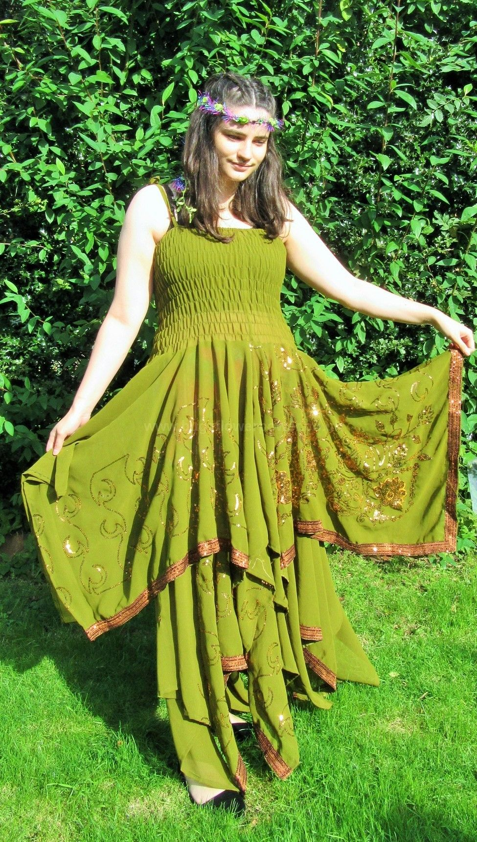 Faery recycled silk dress