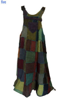 Patchwork pinafore dress