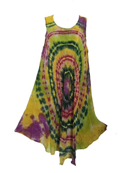 Tie dye umberella dress [plus size]