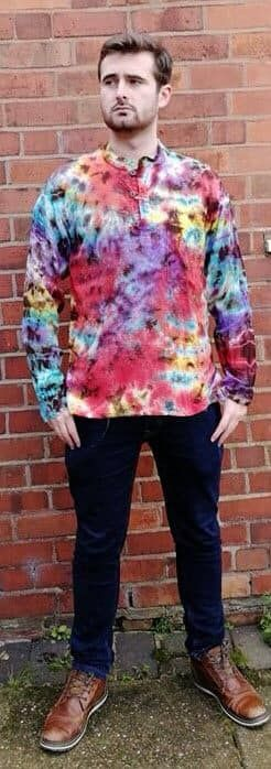 Tie dye ladies & mens hippy clothing