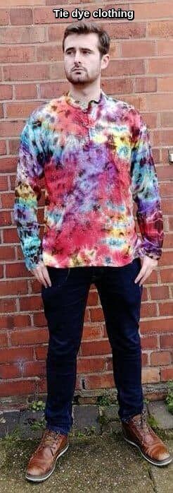 Tie dye ladies & mens hippy clothing