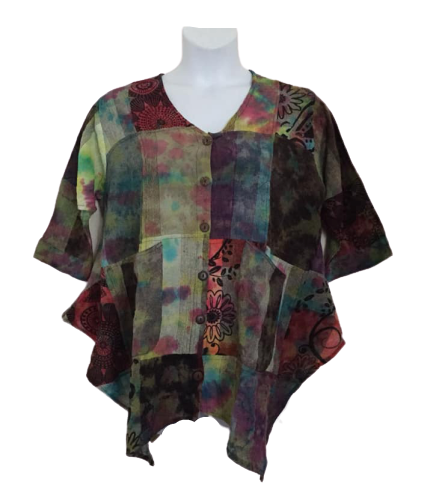 Stunning patchwork  Darcy  hippy top
