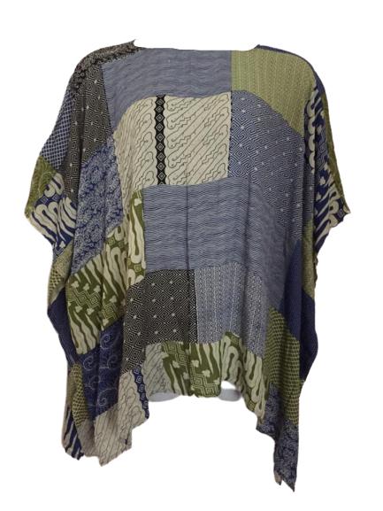 Light patchwork top [plus size 18-26]