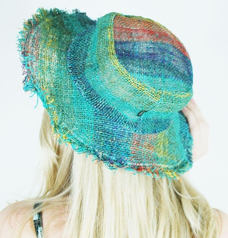 Hippie fringed hat