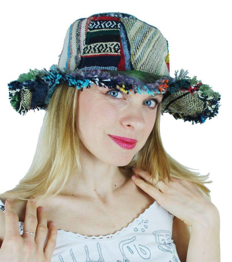 Wired hemp summer hat