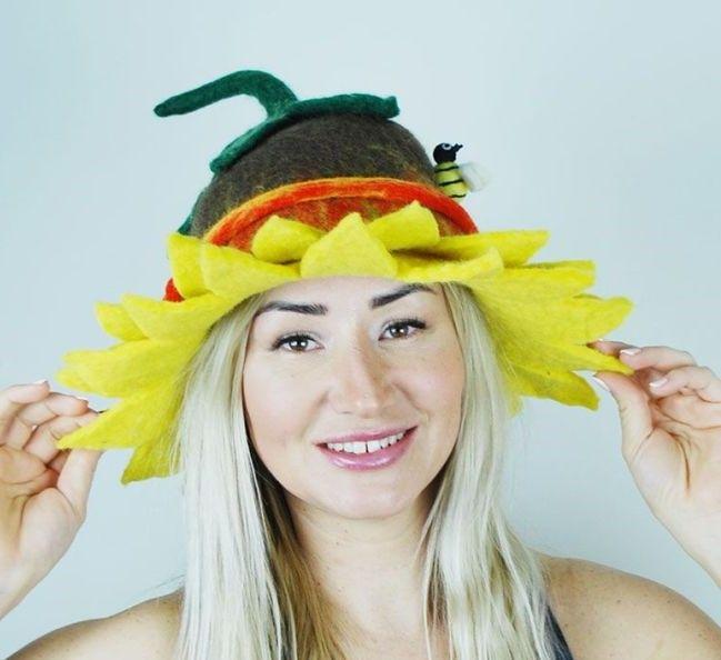 Felt summer hat