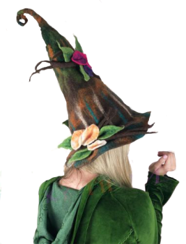Felt forest fae hat