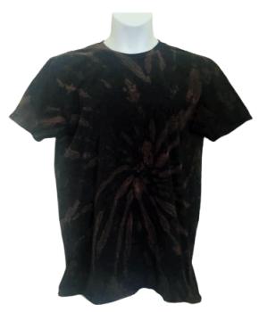Bleach dye tee shirt