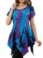 Gorgeous tie dye pixie hem top