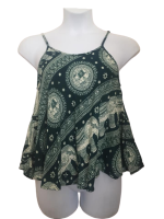 Elli elephant print hippy swing top